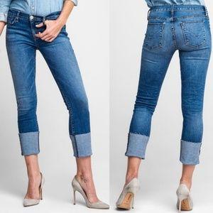 Hudson Tally Deep Cuff Crop Skinny Jeans K12